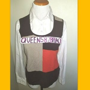 East 5th M Layered Sweater Vest Shirt Top